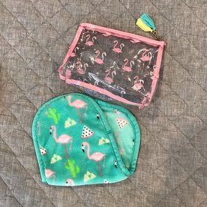 Makeup Eraser Flamingos with Makeup Pouch